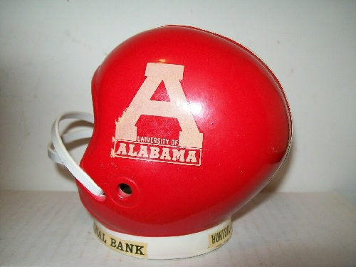 ALABAMA CRIMSON TIDE VINTAGE 60s FOOTBALL HELMET BANK