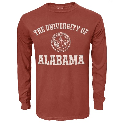 Alabama Crimson Tide T-Shirt - Weezabi - University of Alabama - Comfort Colors - Long Sleeve - Crimson