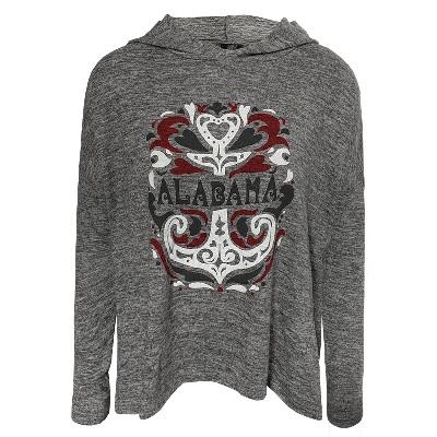 Alabama Crimson Tide T-Shirt - Ladies - Hoodie - Long Sleeve - Grey