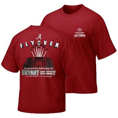 Alabama Crimson Tide T-Shirt - Weezabi - Flyover Is Always Better At Bryant Denny - Football - Stadium - Crimson