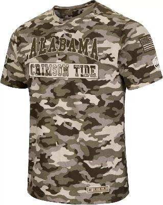 Alabama Crimson Tide T-Shirt - Colosseum - USA Flag - Camo
