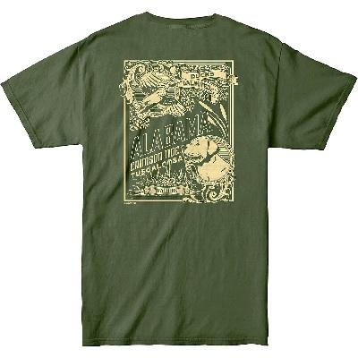 Alabama Crimson Tide T-Shirt - Ducks Unlimited - Tuscaloosa - Green