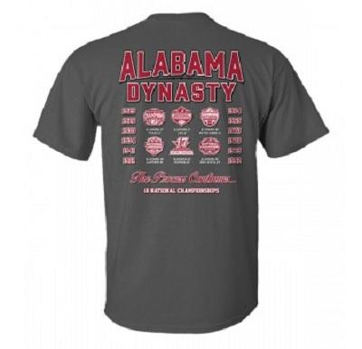 Alabama Crimson Tide Dynasty 18 National Champions T-Shirt