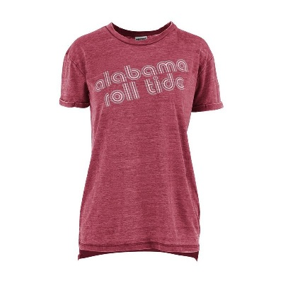 Alabama Crimson Tide T-Shirt - Pressbox - Ladies - Roll Tide - Crimson