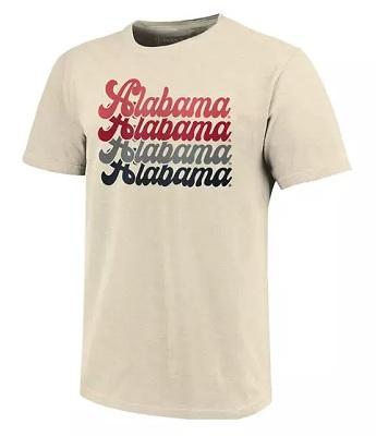 Alabama Crimson Tide T-Shirt - Image One - Tan/Cream