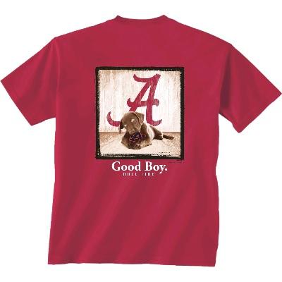 Alabama Crimson Tide T-Shirt - Man's Best Friend - Dog - Good Boy Roll Tide - Crimson