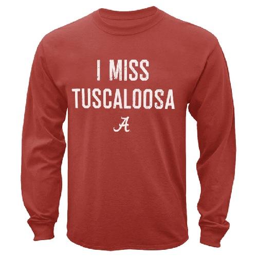 Alabama Crimson Tide Miss Tuscaloosa Comfort Color Long Sleeve T-Shirt