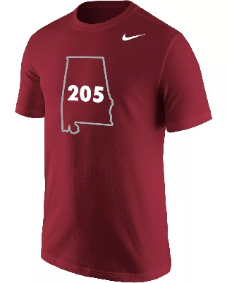 Alabama Crimson Tide T-Shirt - Nike - 205 - State - Crimson