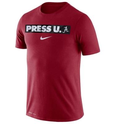 Alabama Crimson Tide T-Shirt - Nike - Press U. A - Basketball - Performance - Crimson