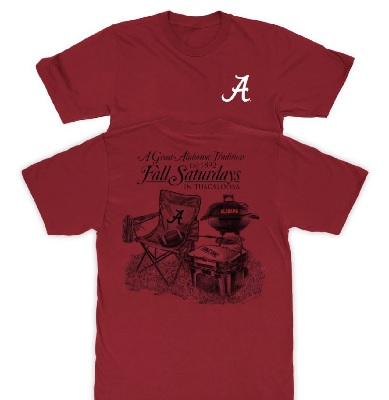Alabama Crimson Tide T-Shirt - A Great Tradition Fall Saturdays In Tuscaloosa - Football - Crimson