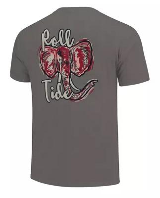 Alabama Crimson Tide T-Shirt - Image One - Roll Tide - Comfort Colors - Grey