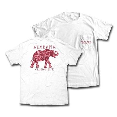 Alabama Crimson Tide T-Shirt - Ladies - Pocket - Comfort Colors - White