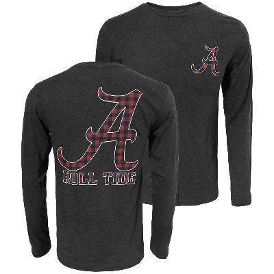 Alabama Crimson Tide T-Shirt - Campus Collection - Roll Tide - Long Sleeve - Grey