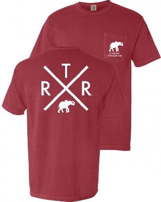 Alabama Crimson Tide T-Shirt - RTR - Pocket - Comfort Colors - Crimson