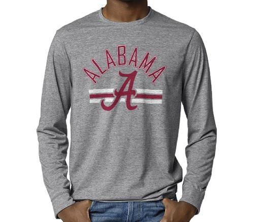 Alabama Crimson Tide Reclaim Tri-Blend Grey Long Sleeve T-Shirt