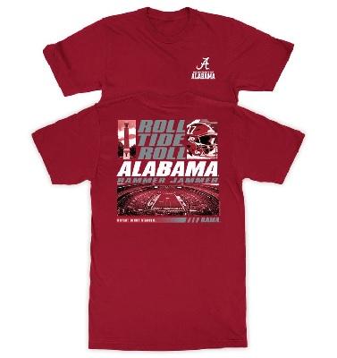 Alabama Crimson Tide T-Shirt - New World Graphics - Roll Tide Roll Rammer Jammer Bryant Denny Stadium Bama - Football - Stadium - Crimson