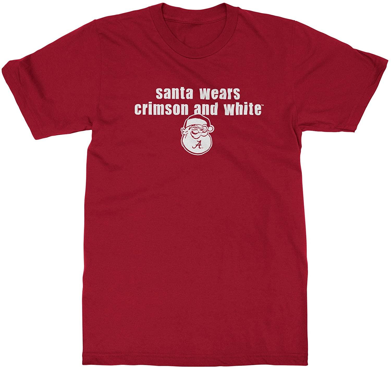 Alabama Crimson Tide T-Shirt - All Conference Apparel - Santa Wears And White - Christmas - Crimson