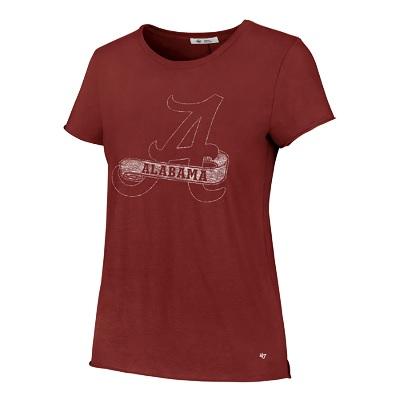 Alabama Crimson Tide T-Shirt - 47 Brand - Ladies - Crimson