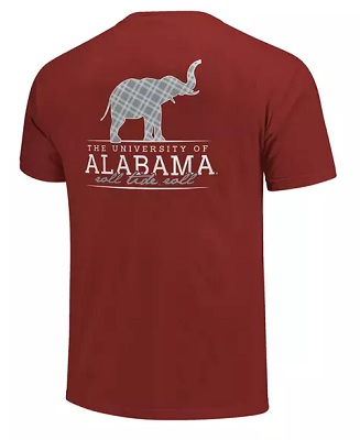 Alabama Crimson Tide T-Shirt - Image One - The University of Alabama Roll Tide Roll - Comfort Colors - Crimson