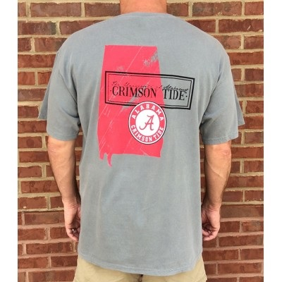 Alabama Crimson Tide T-Shirt - State - Comfort Colors - Grey