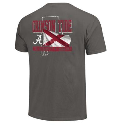 Alabama Crimson Tide T-Shirt - The University Of Alabama - State - Comfort Colors - Grey