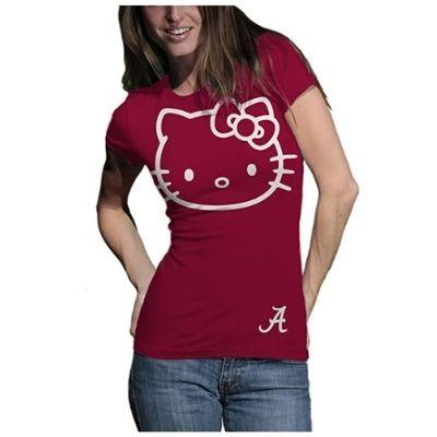 Alabama Crimson Tide T-Shirt - Hello Kitty - Ladies - Crimson