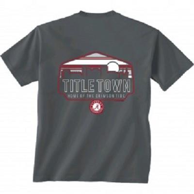 Alabama Crimson Tide Title Town Sunrise Tuscaloosa Charcoal T-Shirt