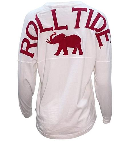 Alabama Crimson Tide Venley Spirit Wear Jersey White T-Shirt