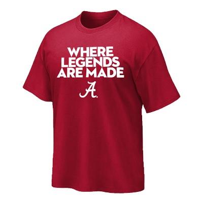 Alabama Crimson Tide T-Shirt - Where Legends Are Made - Crimson