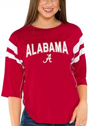 Alabama Crimson Tide Womens Abigail Super Soft Three Quarter Sleeve T-Shirt