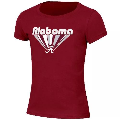Alabama Crimson Tide Youth Girls Short Sleeve T-Shirt