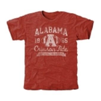 Alabama Crimson Tide T-Shirt - Fanatics Brand -  1965 National Champions - Football - Crimson
