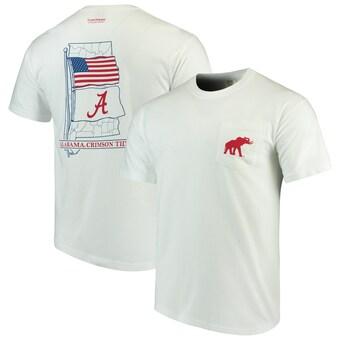 Alabama Crimson Tide T-Shirt - Tuskwear - State - Pocket - Comfort Colors - White