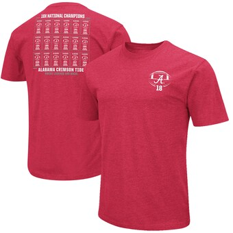Alabama Crimson Tide T-Shirt - Colosseum - 18x National Champions Where Legends Are Made - Football - Crimson