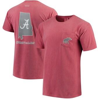 Alabama Crimson Tide T-Shirt - Tuskwear - University of Alabama - State - Pocket - Comfort Colors - Crimson