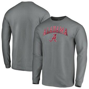 Alabama Crimson Tide T-Shirt - Fanatics Brand - Long Sleeve - Grey