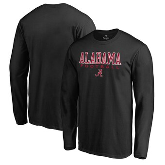 Alabama Crimson Tide T-Shirt - Fanatics Brand -  Football - Football - Long Sleeve - Black