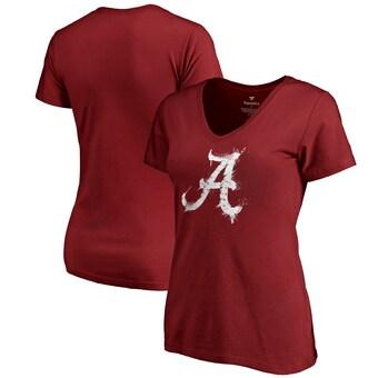 Alabama Crimson Tide T-Shirt - Fanatics Brand - Ladies - V-Neck - Crimson