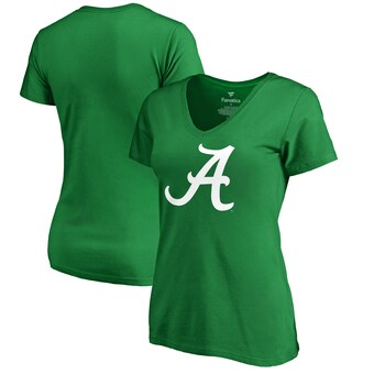 Alabama Crimson Tide T-Shirt - Fanatics Brand - Ladies - St Patricks Day - V-Neck - Green