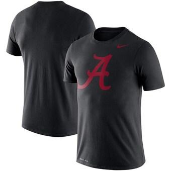 Alabama Crimson Tide T-Shirt - Nike - Performance - Script A Logo - Black