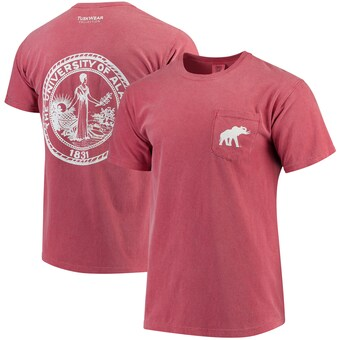 Alabama Crimson Tide T-Shirt - Tuskwear - University of Alabama - Pocket - Comfort Colors - Crimson