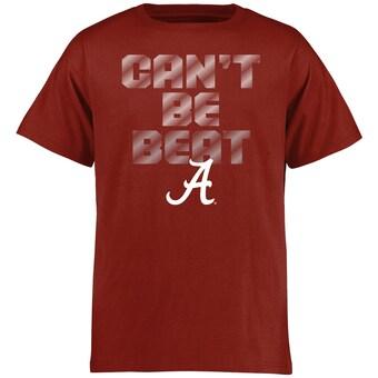 Alabama Crimson Tide T-Shirt - Fanatics Brand - Youth/Kids - Can't Be Beat - Crimson
