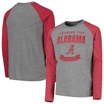 Alabama Crimson Tide T-Shirt - Outerstuff - Youth/Kids - Raglan/Baseball - Long Sleeve - Grey