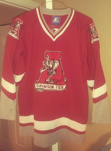 Vintage Alabama Crimson Tide Hockey Starter Jersey Medium