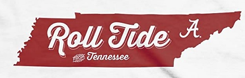 Alabama Crimson Tide Roll Tide From Tennessee White T-Shirt