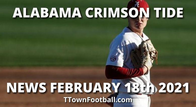 Alabama Crimson Tide News For February 18th 2021 - Alabama-Texas A&M Game Postponed