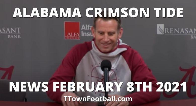 Alabama Crimson Tide News For February 8th 2021 - Alabama vs Missouri Men's Basketball News & More